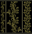set of seamless floral patterns with berries vector image vector image
