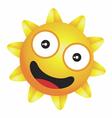 Shiny little happy sun vector image vector image