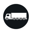 shipping delivery truck transport vehicle block vector image