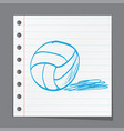 sketch ball volleyball vector image