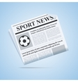 Sport News Newspaper vector image
