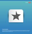 star icon - blue sticker button vector image