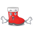 surprised santa boots are on character shelf vector image vector image