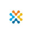 tech logo x letter logotype icon symbol vector image vector image