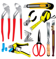 Tool Hand tool hand tool isolated on white vector image