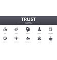 trust simple concept icons set contains such vector image