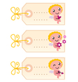 valentines blank tags vector image vector image