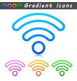 wifi symbol line icons vector image