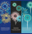 festive firework abstract vertical banners vector image