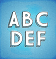 Doodle Style Hand Drawn Alphabet A-F vector image
