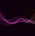 abstract digital flowing particles cyber vector image vector image