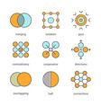 abstract symbols color icons set vector image vector image