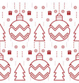 abstract year seamless pattern vector image vector image