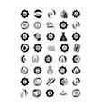 agro logo icons set black and white isolated