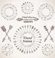 Arrows round frames and page dividers vector image
