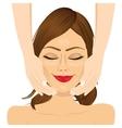 attractive young woman enjoying facial massage vector image vector image