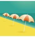 Beach umbrellas cartoon vector image