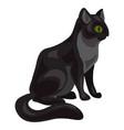 black cat icon cartoon style vector image vector image