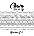 black chains hand drawn pattern brushes include vector image