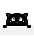 cat kitten kitty black silhouette holding empty vector image vector image