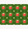 Christmas holiday pattern with presents vector image vector image