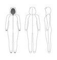 clothing set woman one-piece pajamas vector image vector image