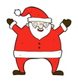 comic cartoon santa claus vector image vector image