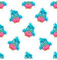 Cute Pattern With Blue Bird vector image vector image
