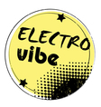 Electro vibe stamp vector image