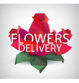 faceted roses red flowers with flowers vector image vector image