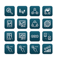 forex flat icons set of business finance online vector image vector image