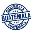 guatemala blue round grunge stamp vector image vector image