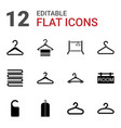 hanger icons vector image vector image
