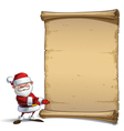 Happy Santa Scroll Showing vector image vector image