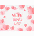 happy valentines day greeting card template for vector image