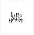 Hello spring Time of year Calligraphy phrase in vector image vector image