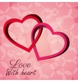 Intertwined hearts love with heart icon vector image