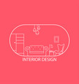 logo furniture lines style symbol and icon vector image vector image