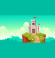 medieval castle fort on cliff cartoon vector image