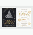 merry christmas and happy new year party placard vector image