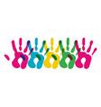 Multicolor diversity hands symbol vector image