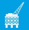 oil platform icon white vector image