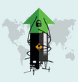 oil price rise up because permitted unlocking vector image vector image