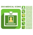 Person Badge Icon and Medical Longshadow Icon Set vector image vector image