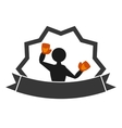 professional boxer avatar isolated icon vector image vector image
