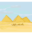 pyramids giza landscape vector image vector image