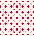 red and white geometric seamless pattern vector image vector image