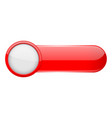red menu button with white circle oval glass 3d vector image vector image