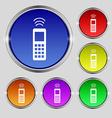 remote control icon sign Round symbol on bright vector image vector image