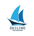 sailing logo with text space for your slogan vector image